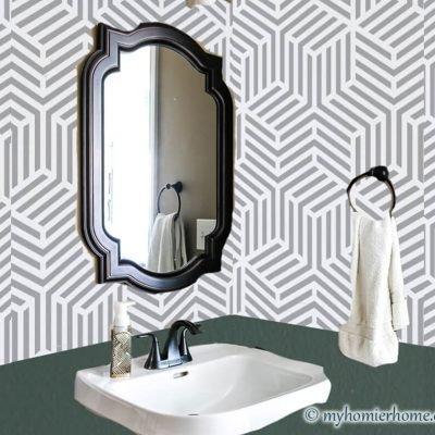 Small Bathroom Makeover: $100 Room Challenge