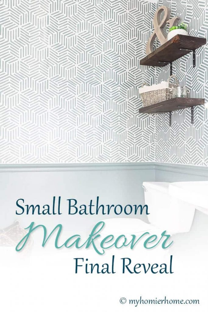 Check out how I transformed my 90s small bathroom into a modern masterpiece all for around $100!