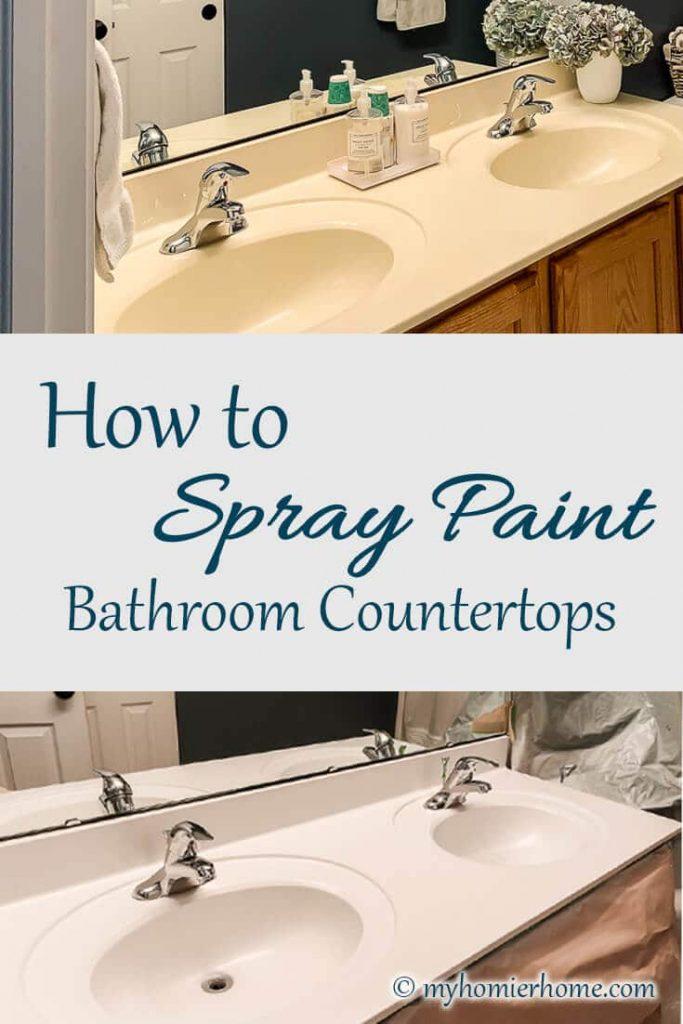 How to Spray Paint Bathroom Countertops