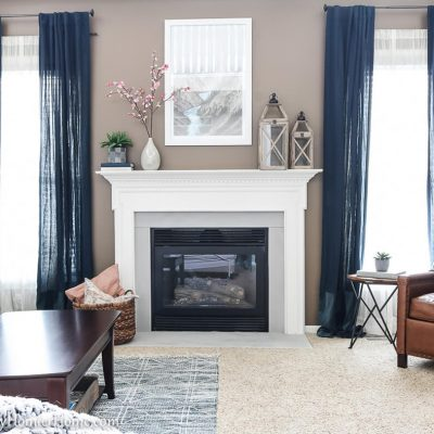 How to Spray Paint the Fireplace Surround