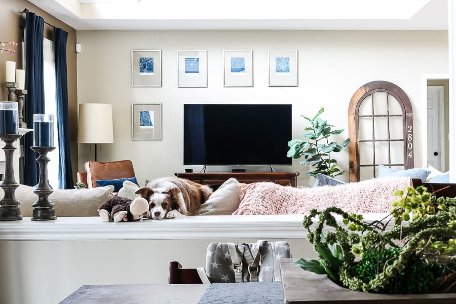 spring decor ideas from a view of living room