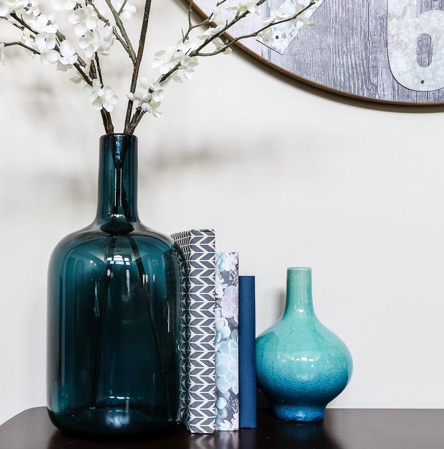navy, light blue spring decor ideas