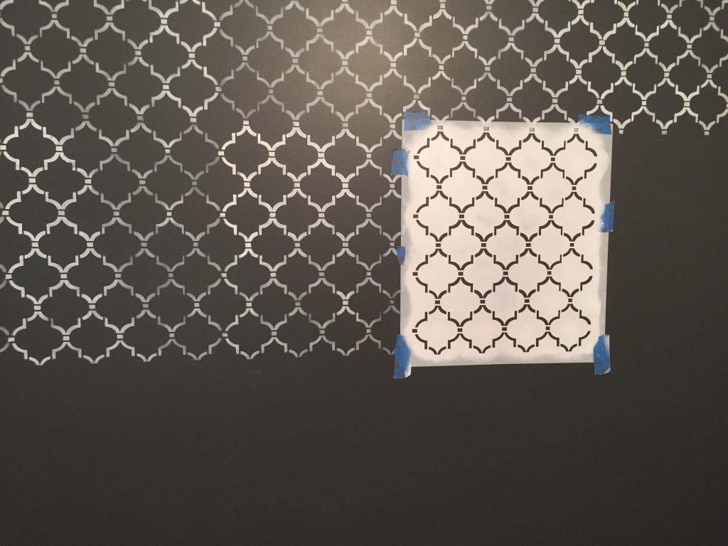 Stencil on wall