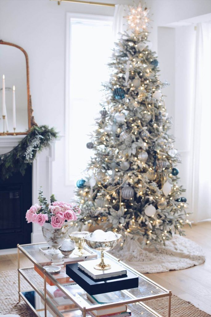 The Pink Dream - Christmas Color Schemes Blue and White