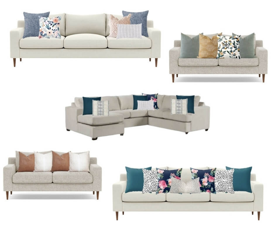 Want to arrange pillows like a pro in your living room? Find out the perfect throw pillow sizes and arrangements right here.