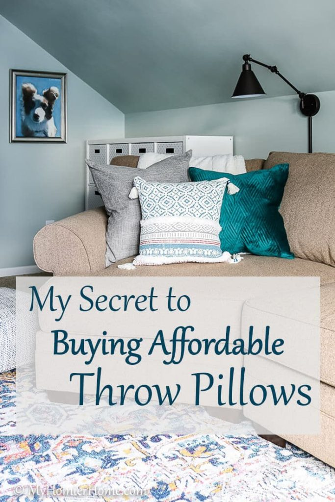 Looking to freshen up your room on a small budget? Start with my best secret on buying some beautifully, affordable throw pillows.