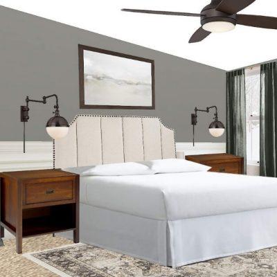 Modern Vintage Guest Bedroom Design Board